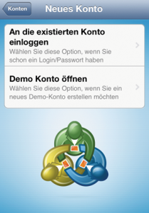 Login Live iOS MT5